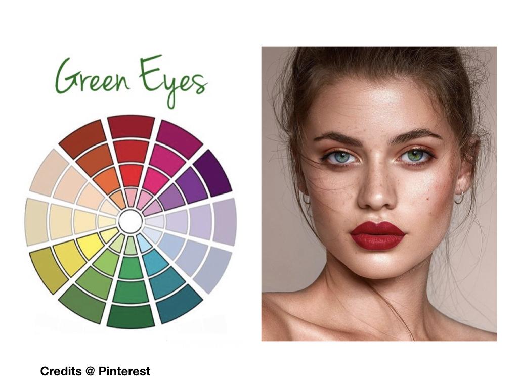 trucco labbra occhi verdi