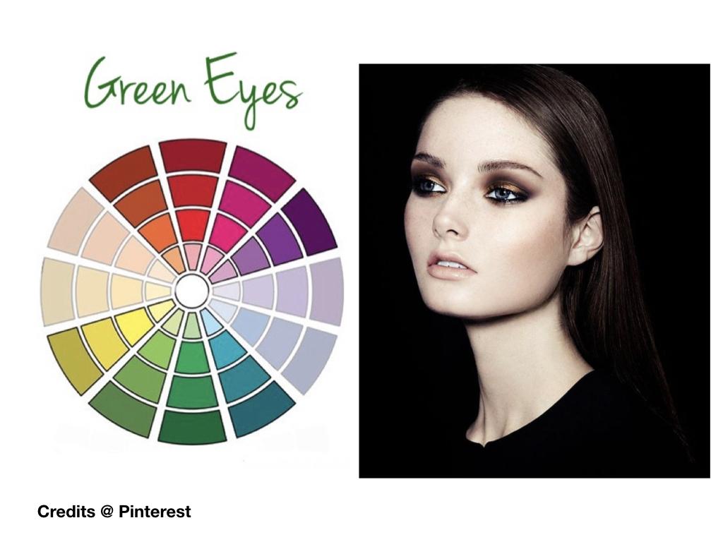 trucco nero occhi verdi