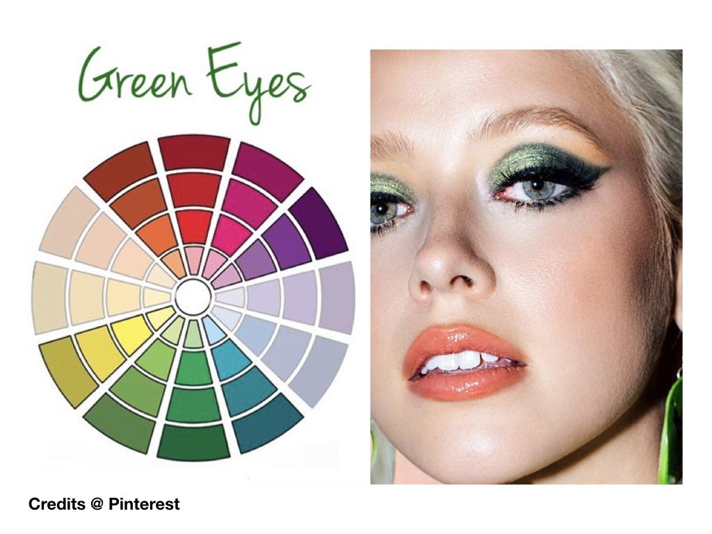 trucco verde occhi verdi